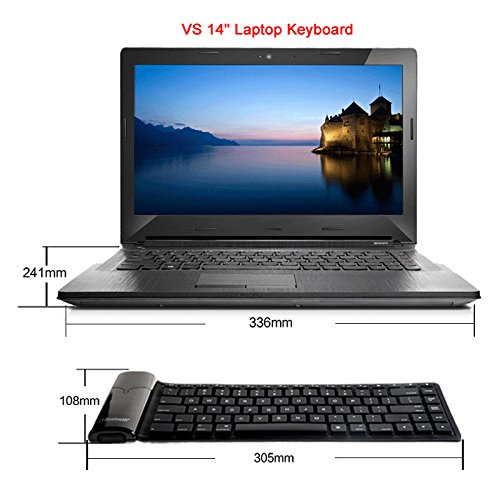 Roll Up Bluetooth Keyboard Android: Waterproof Roll Up Silicon Foldable Keyboard