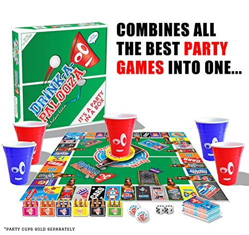 Drink A Palooza: DRINK-A-PALOOZA Board Game: Fun Drinking Games For Adults